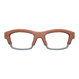Animal Crossing New Horizons Wooden-frame Glasses Image