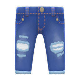 Animal Crossing New Horizons Worn-out Jeans Image