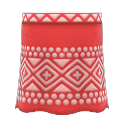 Animal Crossing New Horizons Embroidered-pattern Skirt Image