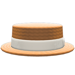 Animal Crossing New Horizons Straw Boater Image
