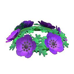 紫 アネモネ あつ 森