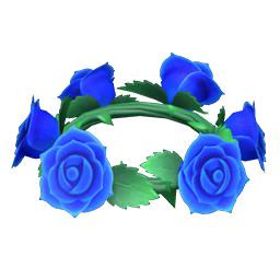 Animal Crossing New Horizons Blue Rose Crown Image