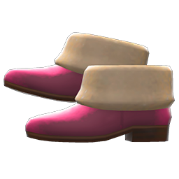 Animal Crossing New Horizons Faux-fur Ankle Booties Image
