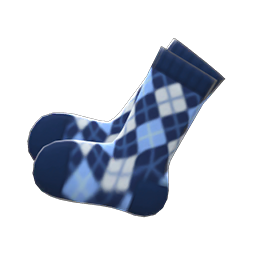 Image of Argyle crew socks