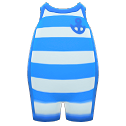 Image of Horizontal-striped wet suit