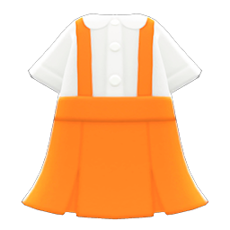 Image of Skirt with suspenders