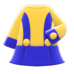 Animal Crossing New Horizons Retro A-line Dress (Blue) Image
