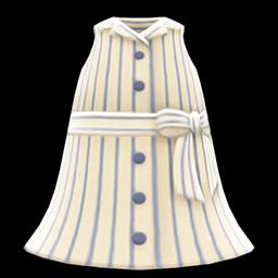 Image of Sleeveless shirtdress