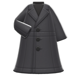 Image of Long pleather coat