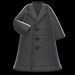 Image of Long pleather coat