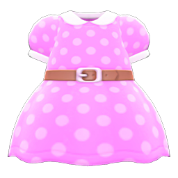 Animal Crossing New Horizons Belted Dotted Dress Image