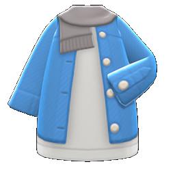 Image of Long denim cardigan