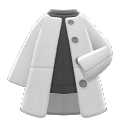 Image of Collarless coat