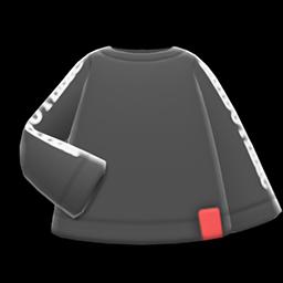 Image of Printed-sleeve sweater