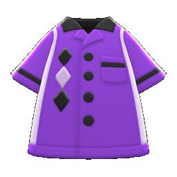 Animal Crossing New Horizons Bowling Shirt (Purple) Image