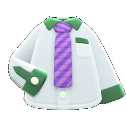 Image of variation Purple-striped necktie