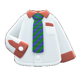 Image of variation Green-striped necktie