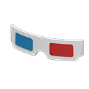 Secondary image of 3D glasses