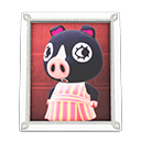 Animal Crossing New Horizons Agnes's Photo (White) Image