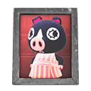 Animal Crossing New Horizons Agnes's Photo (Silver) Image