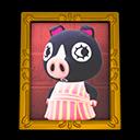 Animal Crossing New Horizons Agnes's Photo (Gold) Image