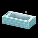 Animal Crossing New Horizons Light blue Long Bathtub