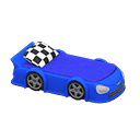 Animal Crossing New Horizons Blue Throwback Race-car Bed