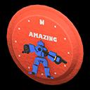 Animal Crossing New Horizons Red Throwback Wall Clock