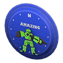 Animal Crossing New Horizons Blue Throwback Wall Clock