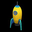 Animal Crossing New Horizons Yellow Throwback Rocket