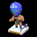 Animal Crossing New Horizons Blue Throwback Wrestling Figure