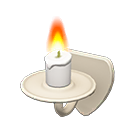 Animal Crossing New Horizons White Wall-mounted Candle