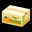 Animal Crossing New Horizons Oranges Cardboard Box