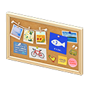 Animal Crossing New Horizons Natural Corkboard