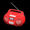 Animal Crossing New Horizons Red Cute Music Player