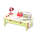 Animal Crossing New Horizons Yellow Cute DIY Table