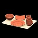 Animal Crossing New Horizons Unglazed Dish Set