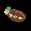 Animal Crossing New Horizons Timber Doorplate Image