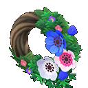 Animal Crossing New Horizons Cool Windflower Wreath Image