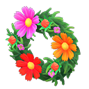 Animal Crossing New Horizons Pretty Cosmos Wreath Image