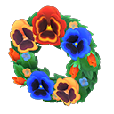 Animal Crossing New Horizons Snazzy Pansy Wreath Image