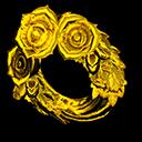 Animal Crossing New Horizons Gold Rose Wreath Image