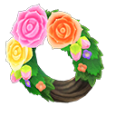 Animal Crossing New Horizons Fancy Rose Wreath Image