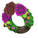 Animal Crossing New Horizons Dark Rose Wreath Image
