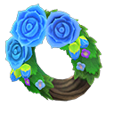 Animal Crossing New Horizons Blue Rose Wreath Image