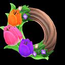 Animal Crossing New Horizons Pretty Tulip Wreath Image