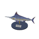 Animal Crossing New Horizons Blue Marlin Model Image