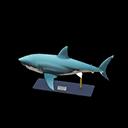 Animal Crossing New Horizons Great White Shark Model Image