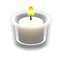 Image of Glass holder with candle