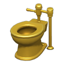 Animal Crossing New Horizons Golden Toilet
